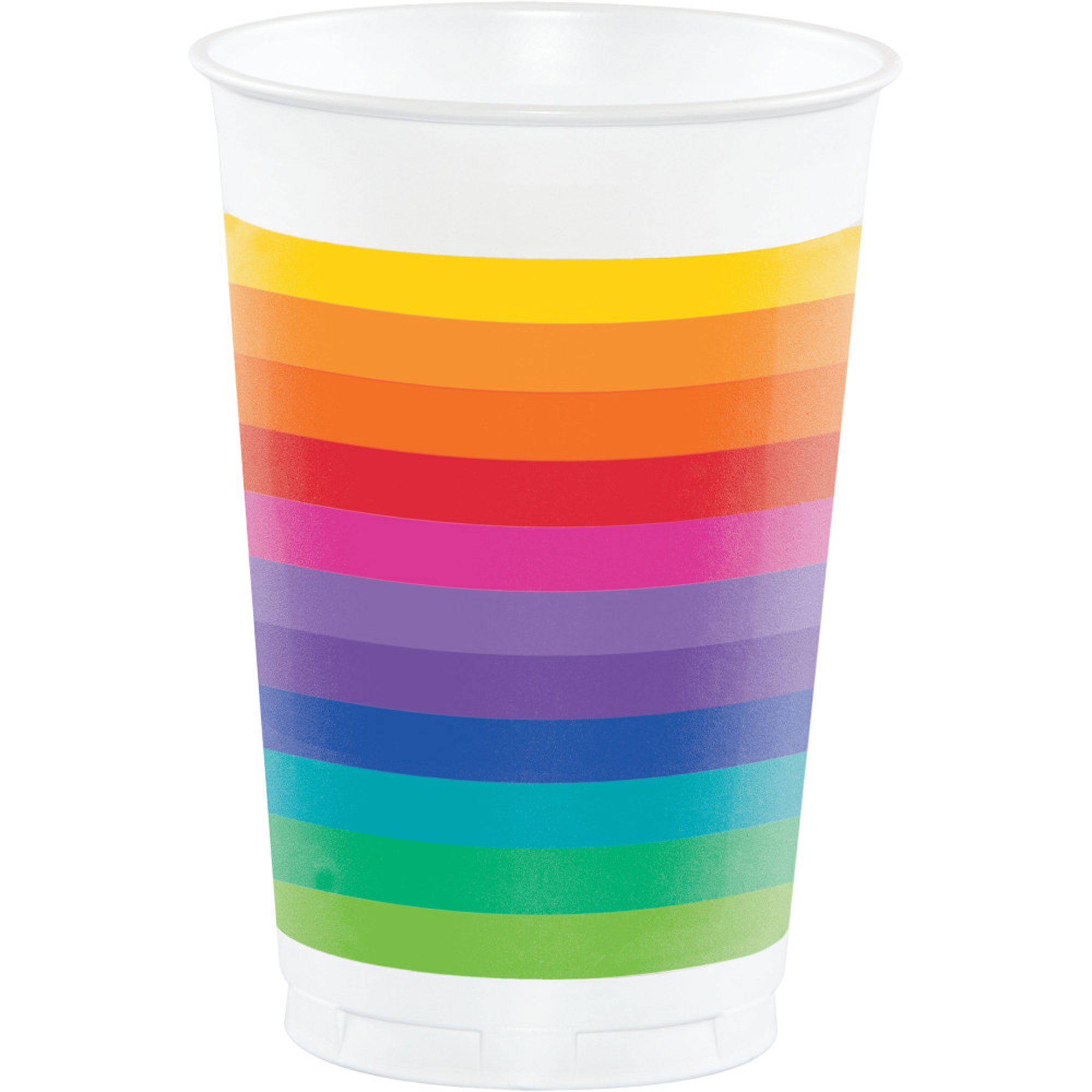 Rainbow Cups Plastic 473ml