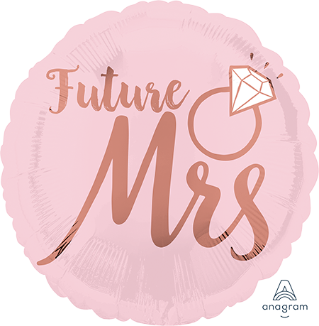 45cm Standard HX Blush Wedding Future Mrs S40