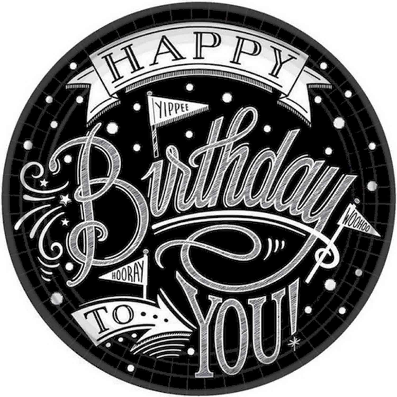 Hooray, It's Your Birthday 23cm Round Plates