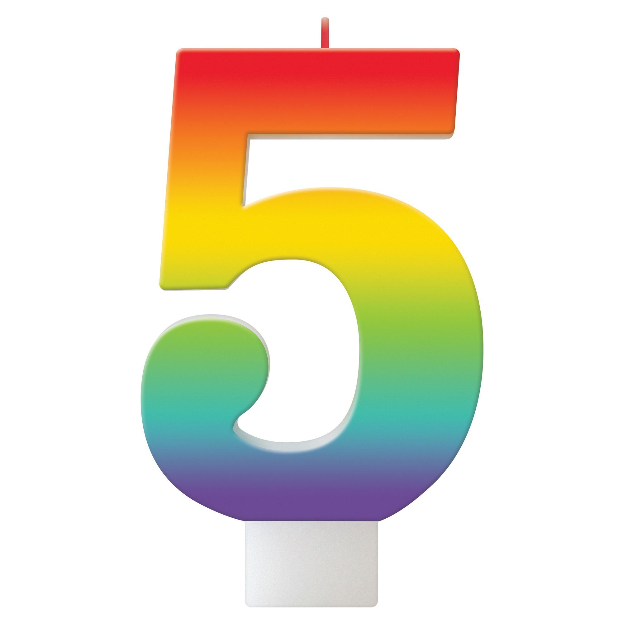 Birthday Celebration Rainbow Candle Number #5