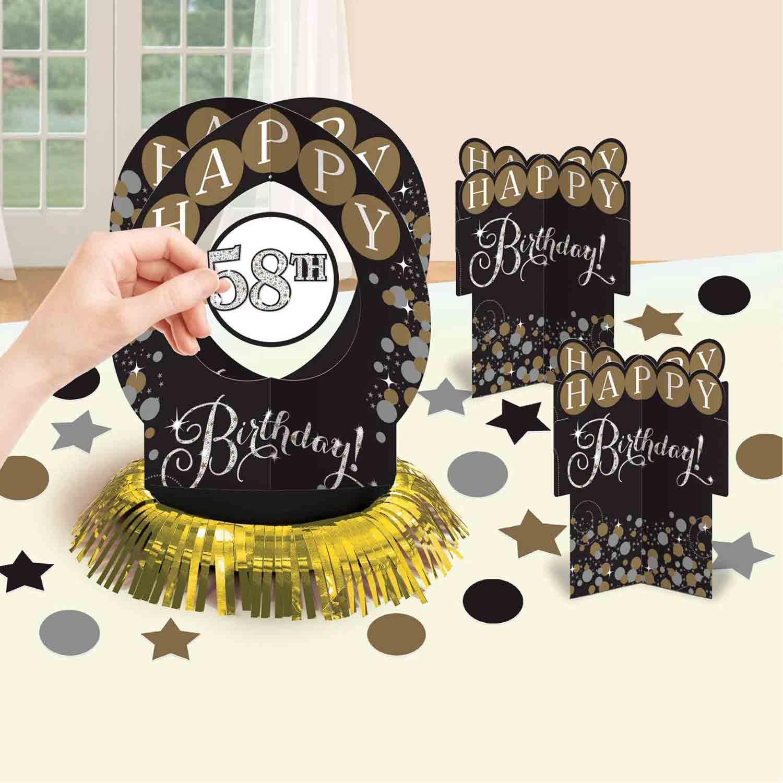 Sparkling Celebration Add Any Age Table Decoration Kit