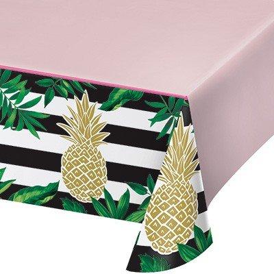 Pineapple Wedding Tablecover Plastic All Over Print 137cm x 259cm