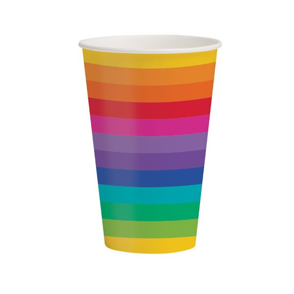 Rainbow Cups Paper 354ml
