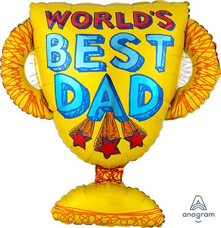 SuperShape World's Best Dad Trophy P30