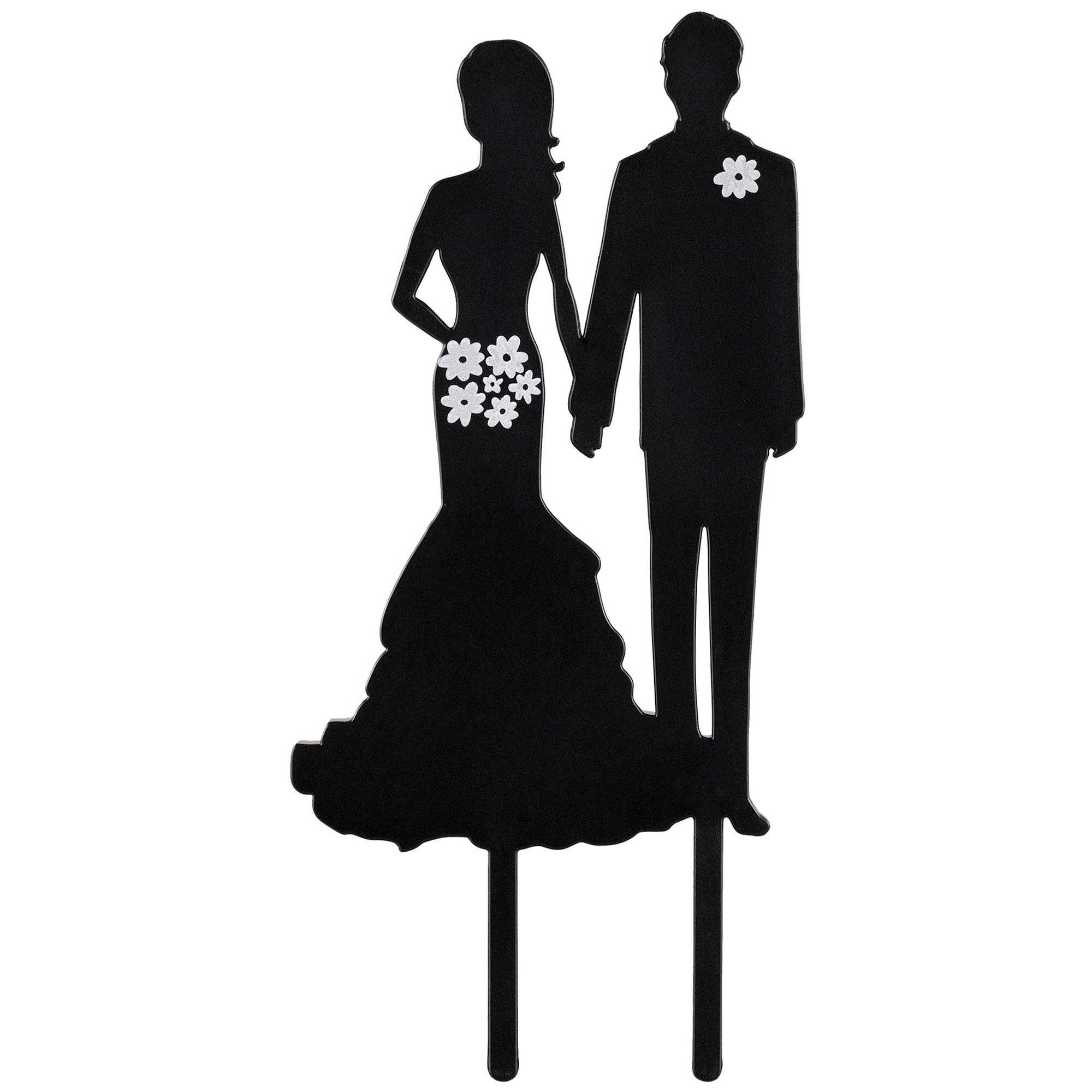 Cake Topper Silhouette Couple