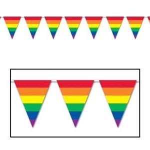 Pennant Flag Banner Rainbow Stripes