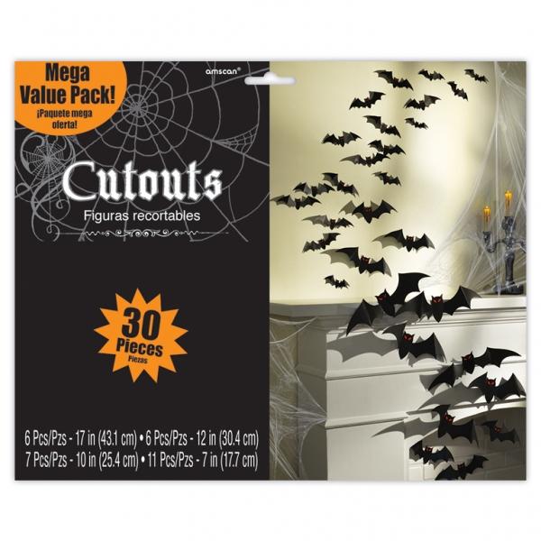 Cemetery Mega Value Pack Bat Cutouts Cardboard