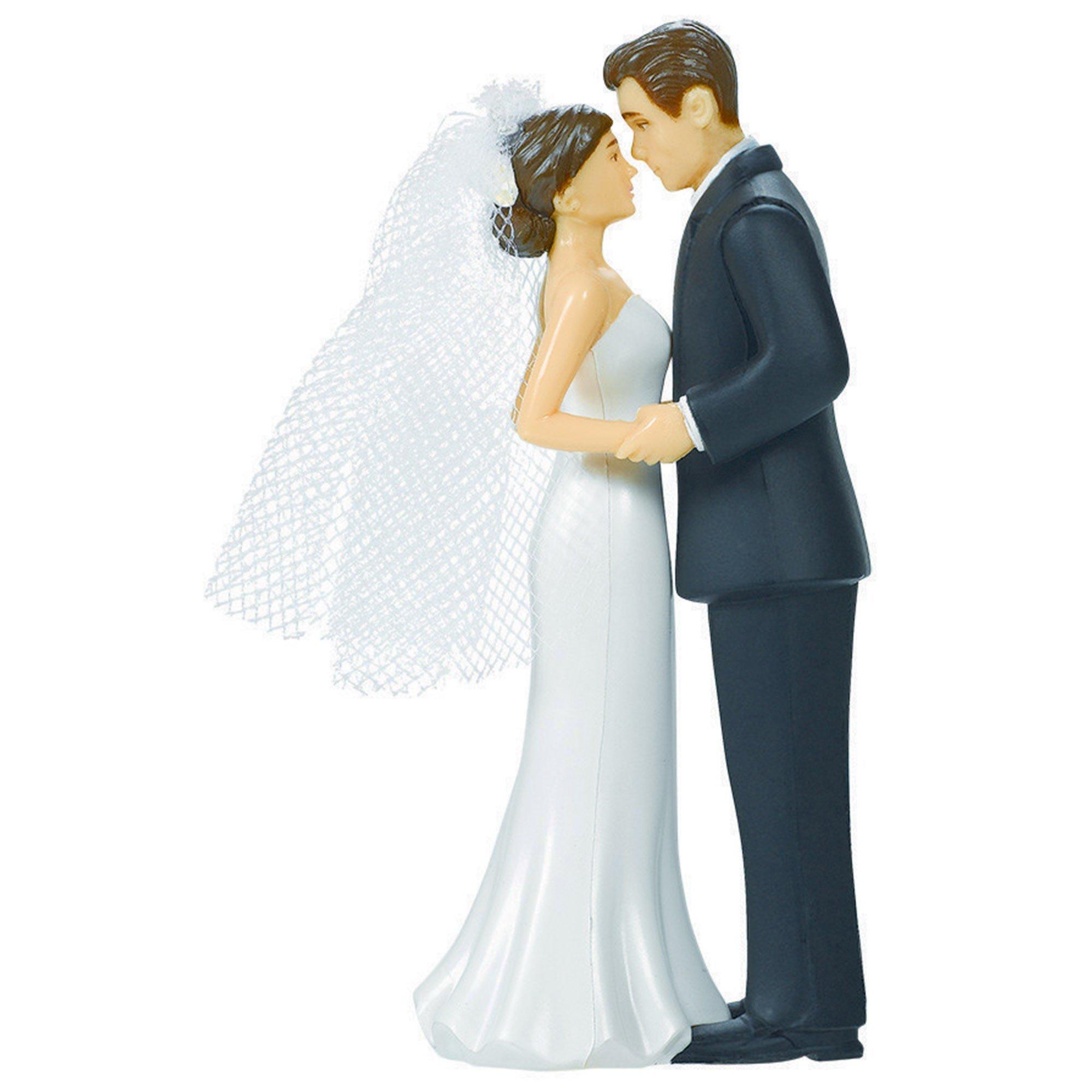 Cake Topper Bride & Groom Plastic
