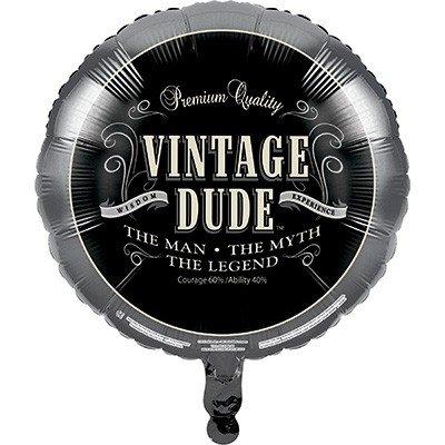 45cm Vintage Dude Foil Balloon