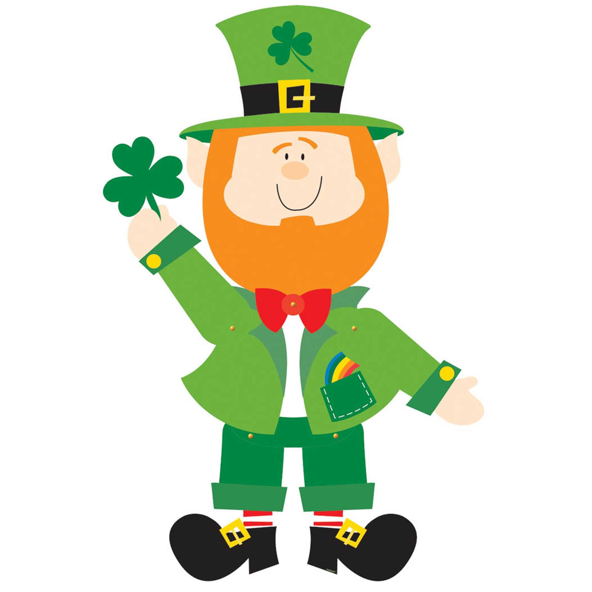 St Patrick's Day Leprechaun Jointed Cutout