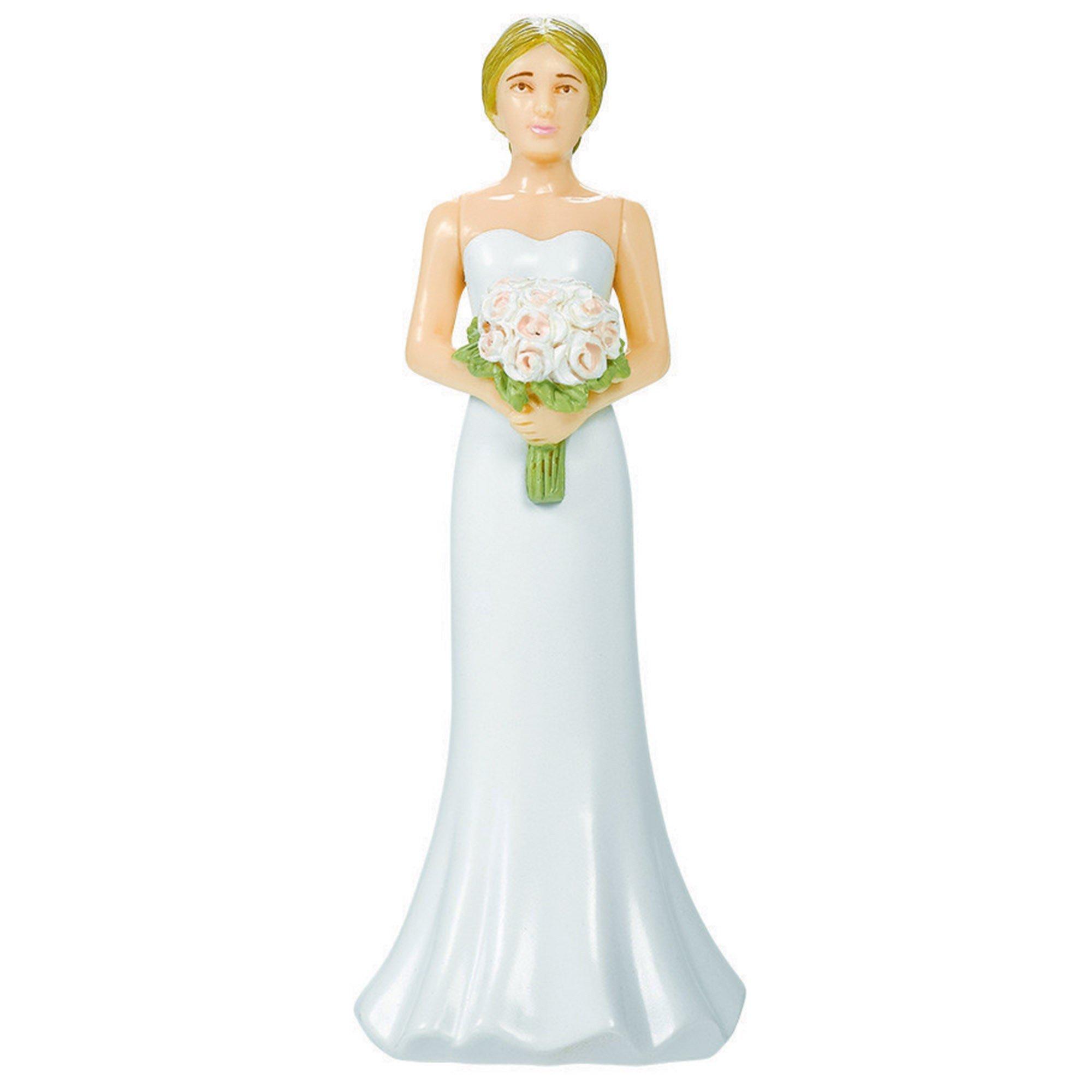 Cake Topper Blonde Hair Bride Plastic