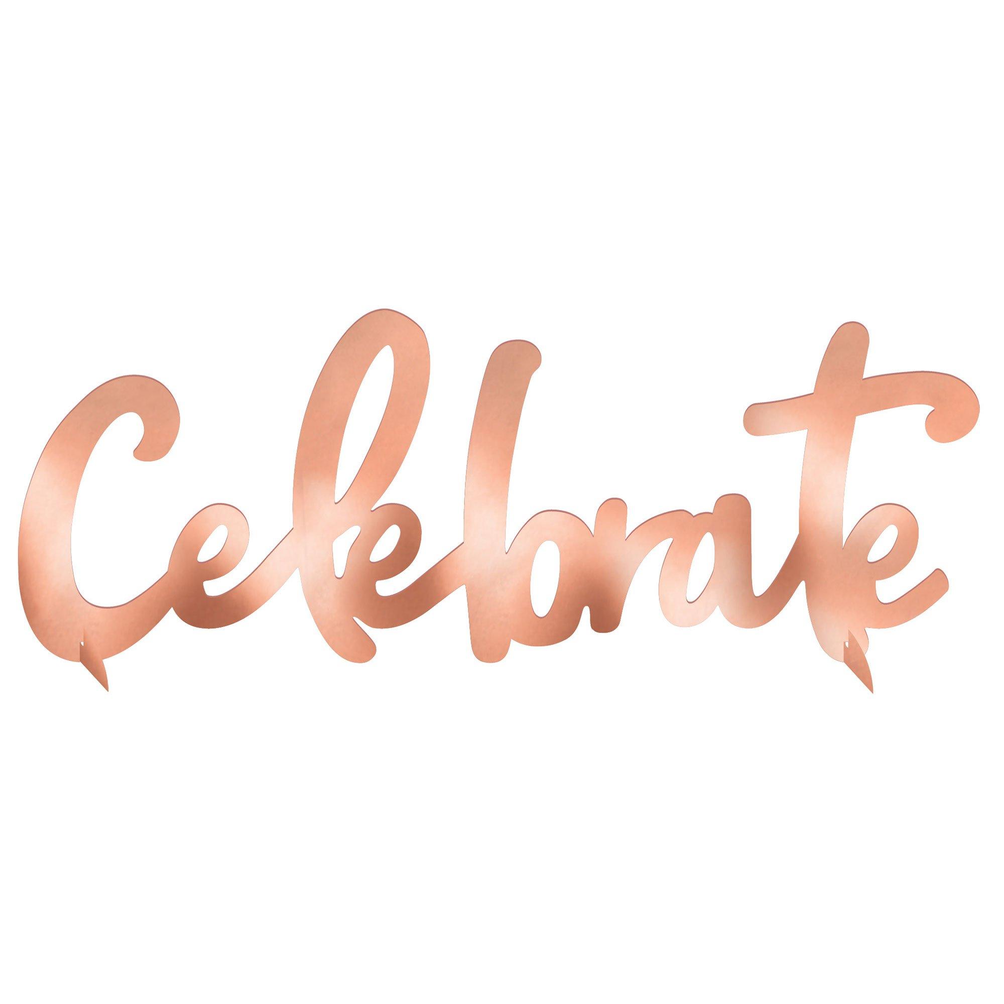 Blush Birthday Celebrate Foil Centrepiece