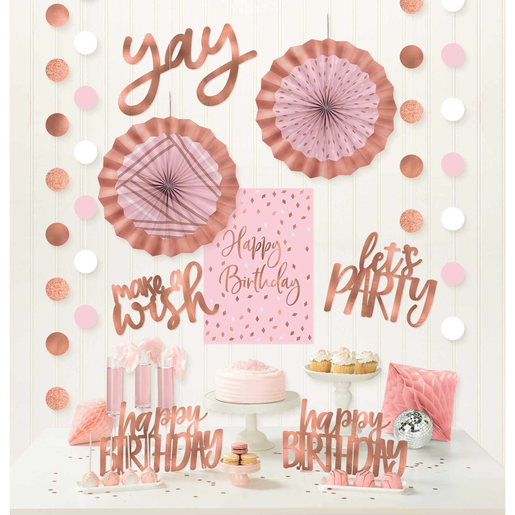 Blush Birthday Room Decorating Kit