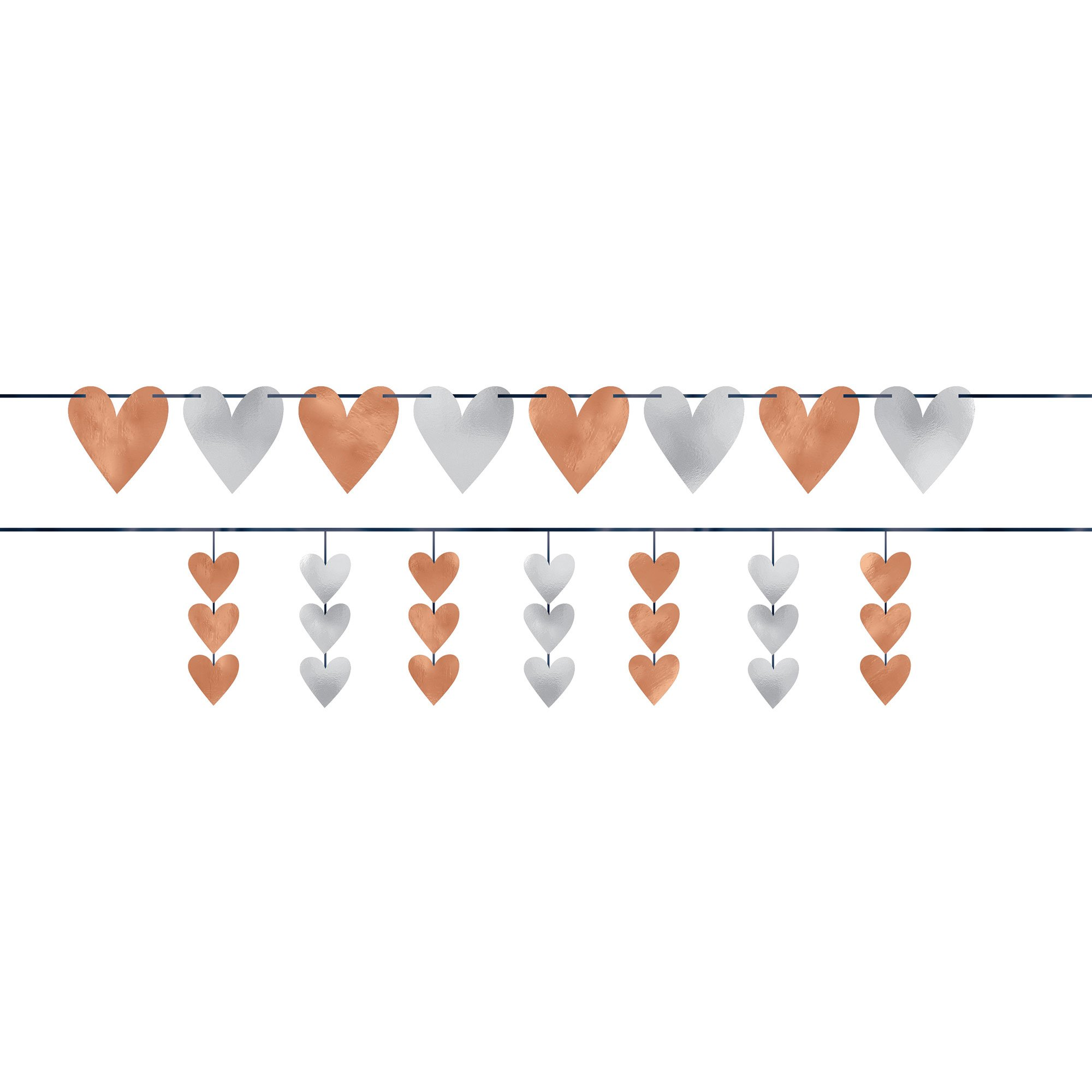Navy Bride Hearts Banners Kit