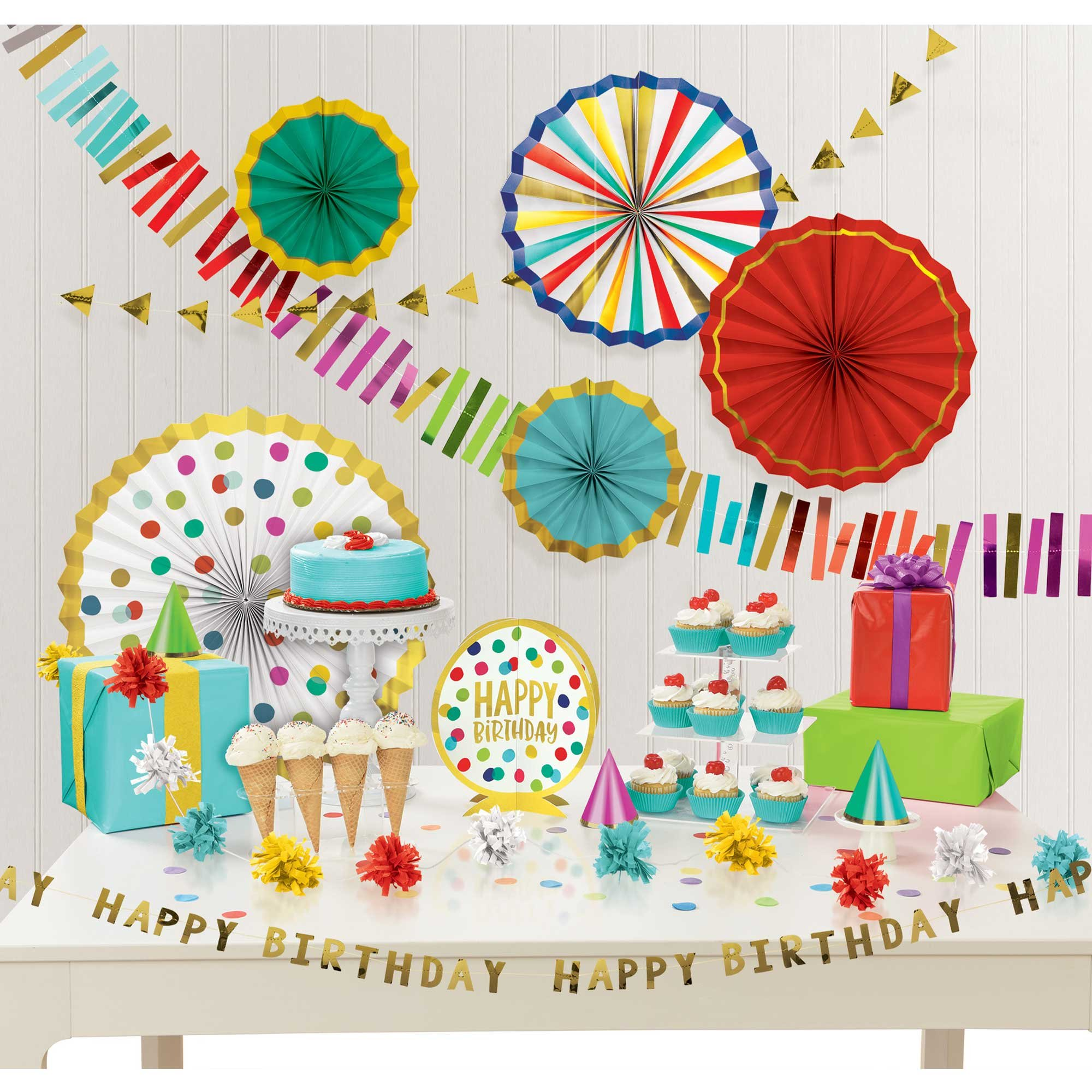 Happy Dots Happy Birthday Room Decorating Kit