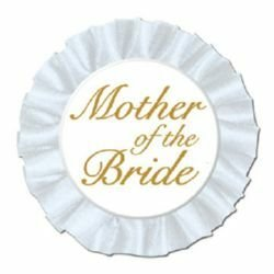 Mother Of The Bride Button Satin Badge