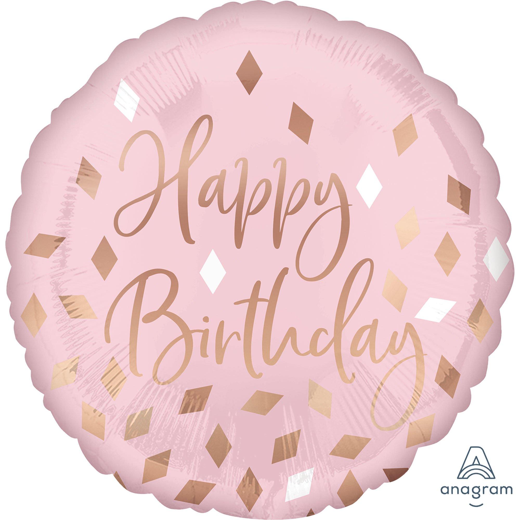 45cm Standard HX Blush Happy Birthday S40