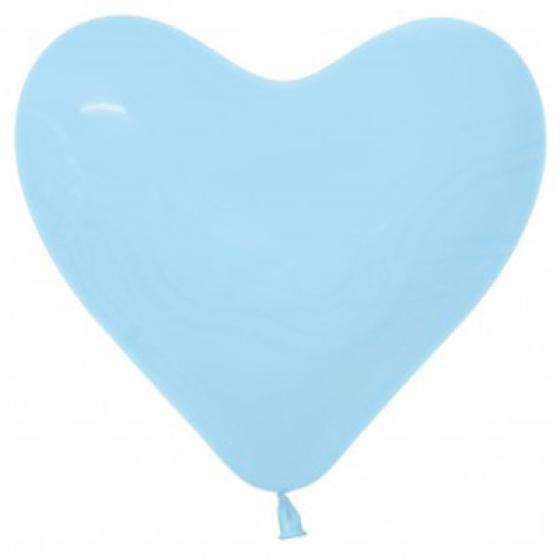 Sempertex 15cm Hearts Fashion Light Blue Latex Balloons, 50PK
