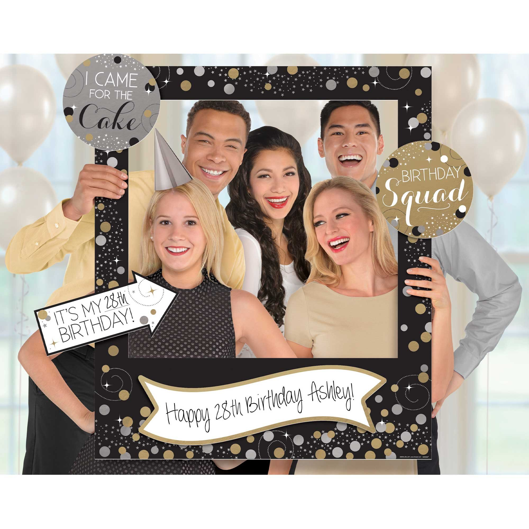 Sparkling Celebration Customizable Giant Photo Frame & Cutouts