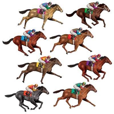 Race Horses Wall Decorations Insta-Theme Props
