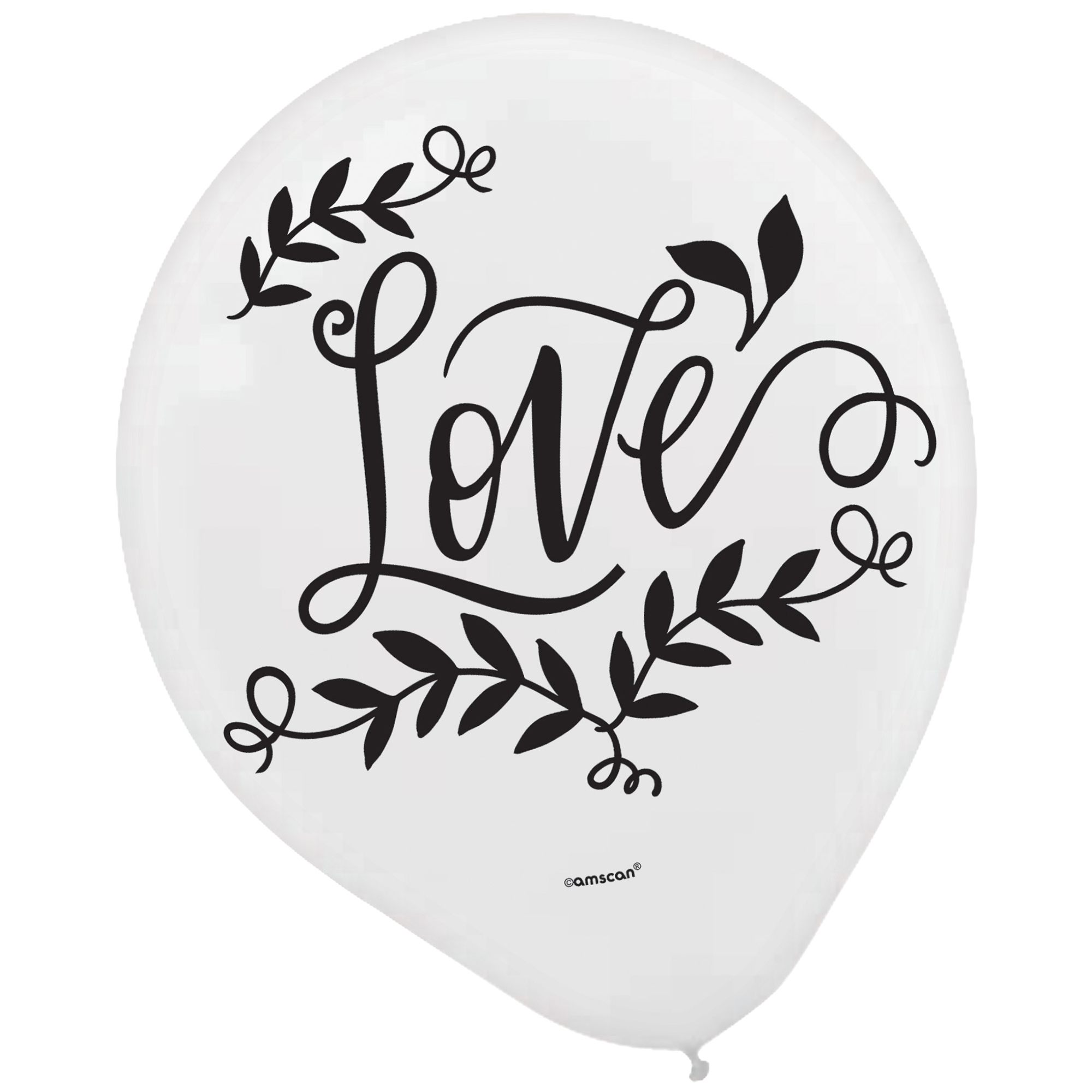 Love and Leaves 30cm Latex Balloons Assorted Colours