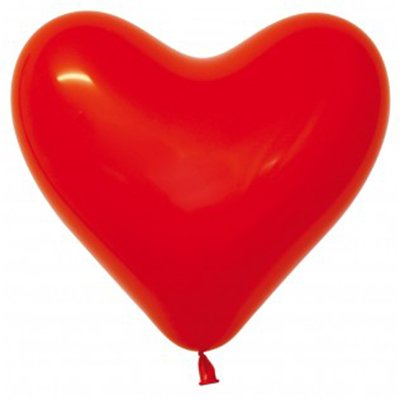 Sempertex 28cm Hearts Fashion Red Latex Balloons, 12PK