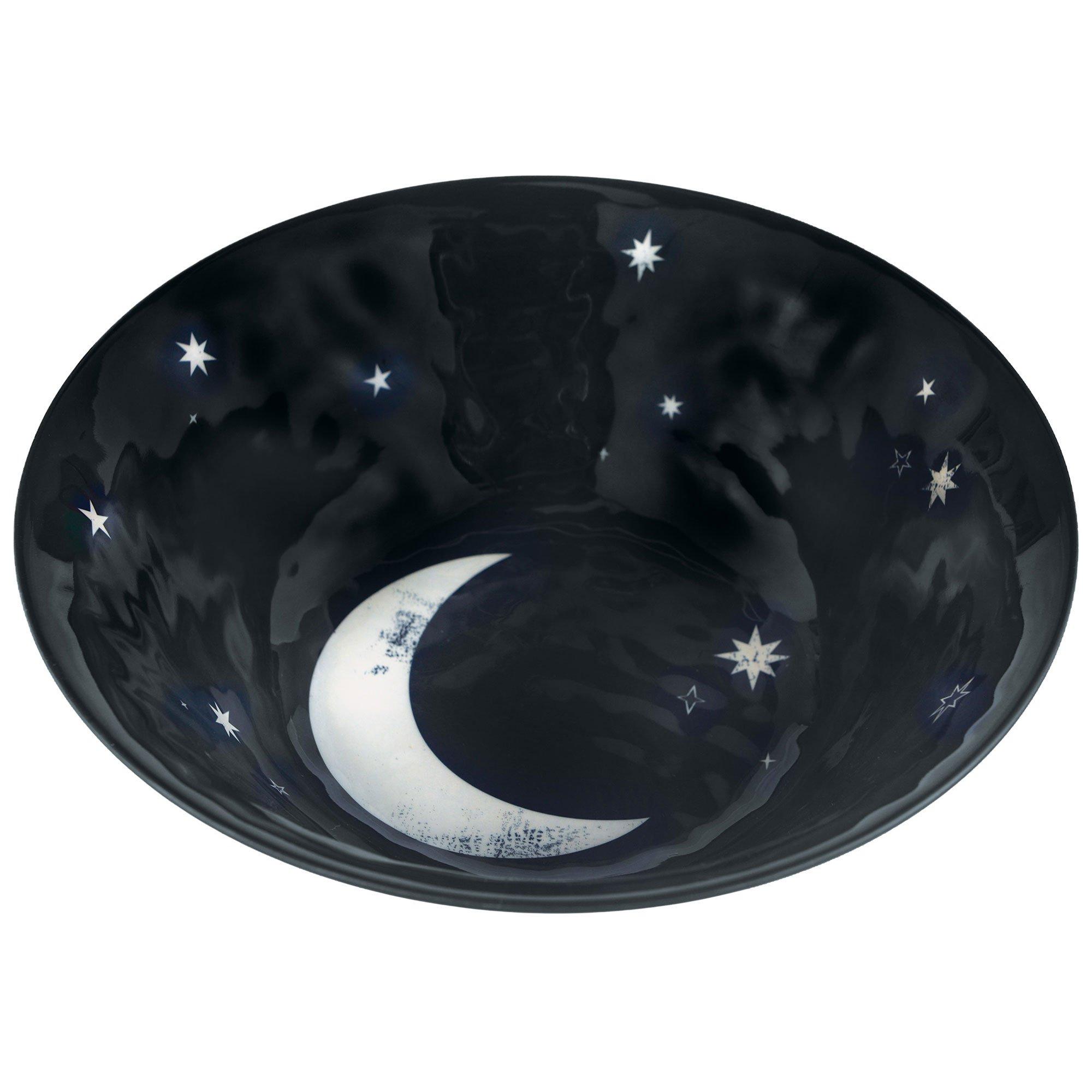 Halloween Classic Black & White Melamine Serving Bowl
