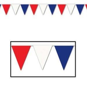 Pennant Flag Banner Large Red, White & Blue