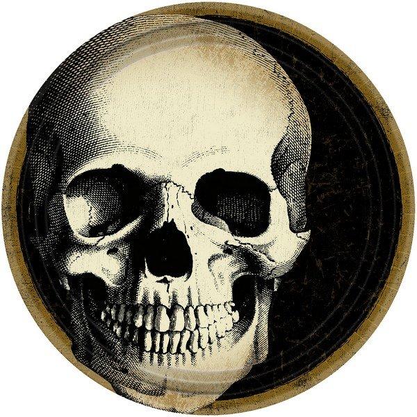 """Boneyard Round 9"""" / 23cm Paper Plates"