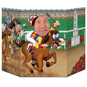 Horse Racing Derby Day Photo Prop