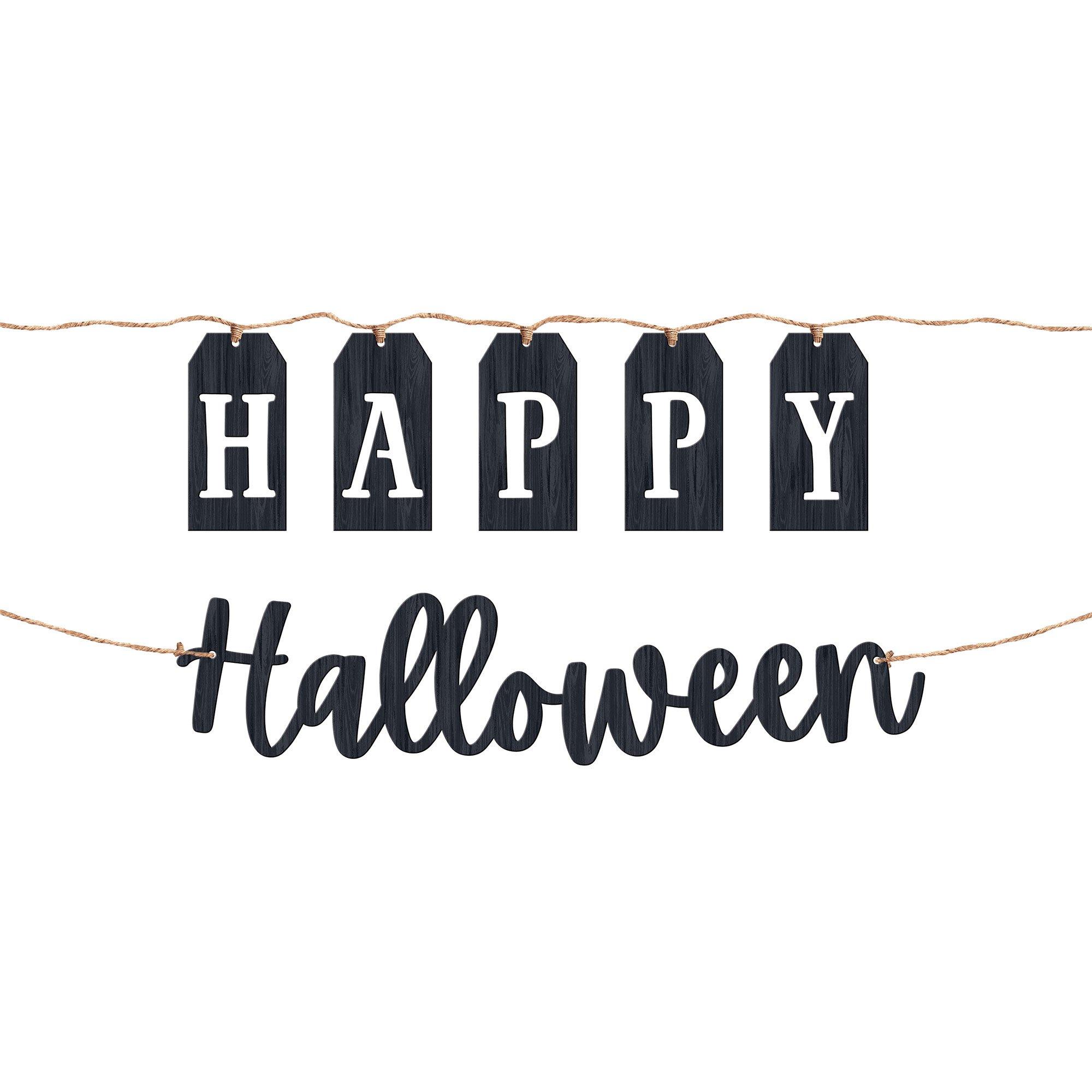 Halloween Classic Black & White MDF Banners