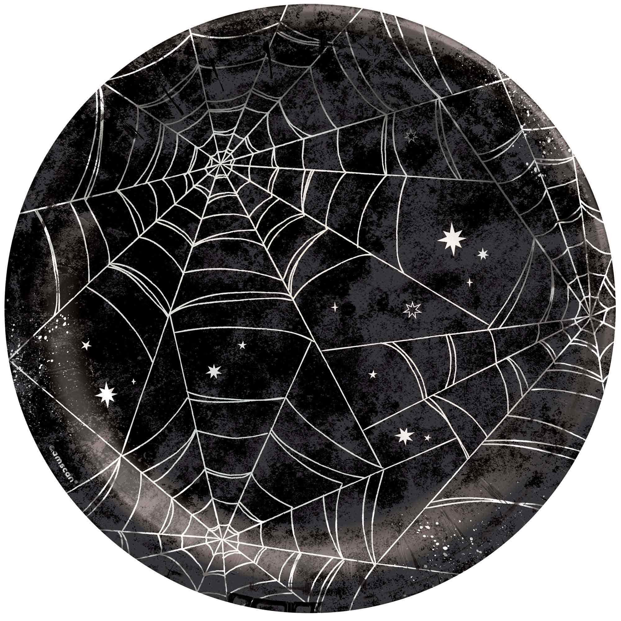 """Spider Web Night 10"""" / 25cm Plates"