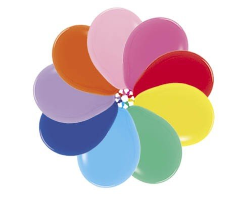 Sempertex 45cm Fashion Assorted Latex Balloons, 6PK