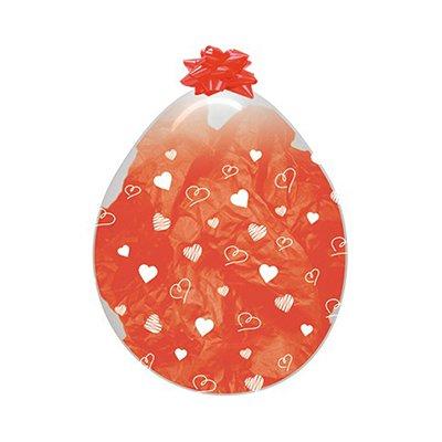 Sempertex 45cm Stuffing Crystal Clear Hearts Latex Balloons, 6PK