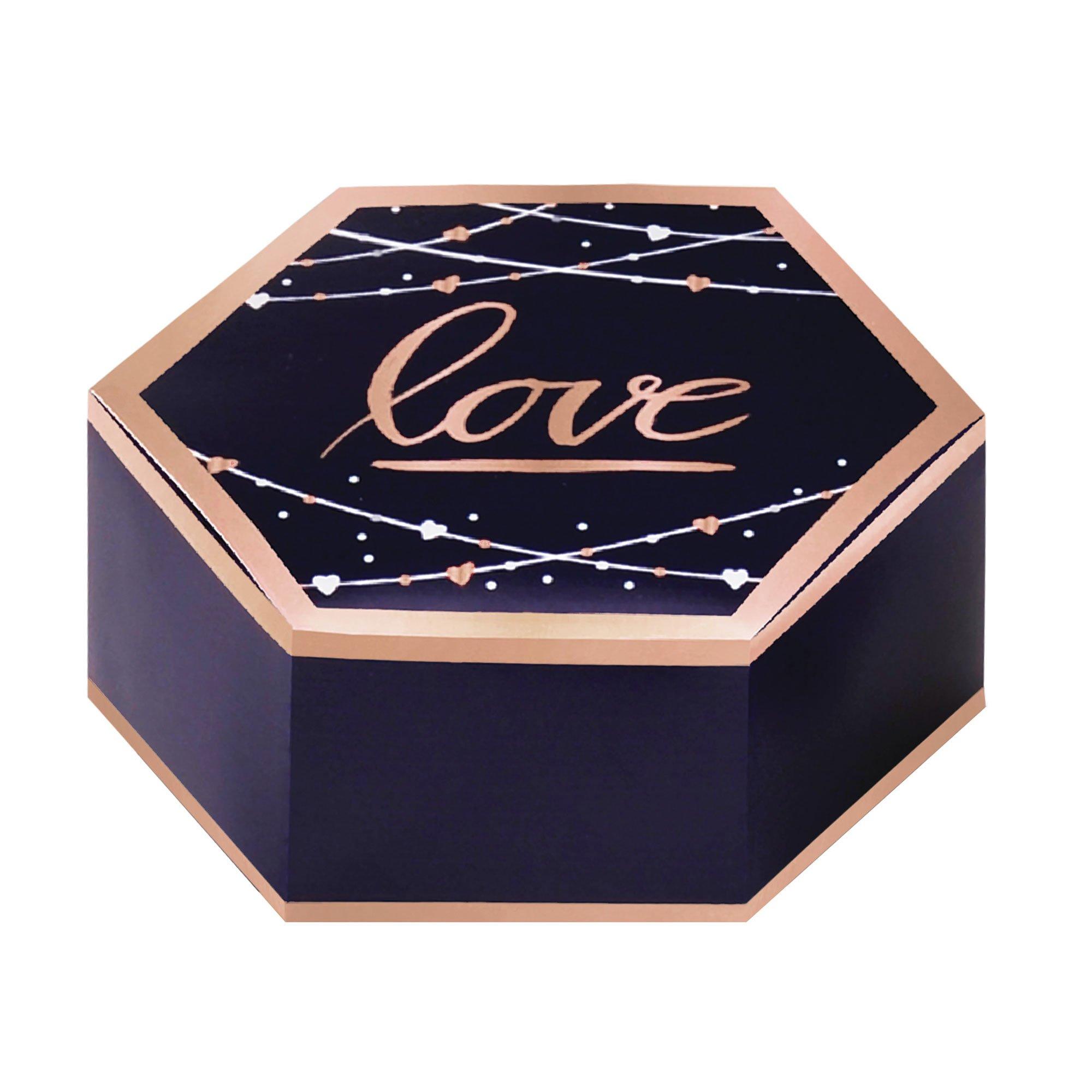 Navy Bride Favor Boxes Hot Stamped