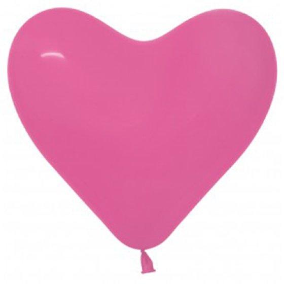 Sempertex 15cm Hearts Fashion Fuchsia Latex Balloons, 50PK