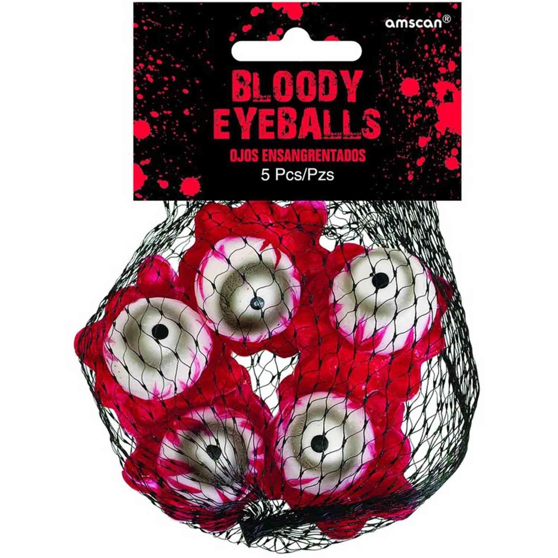 Asylum Bloody Eyeballs Decorations Plastic