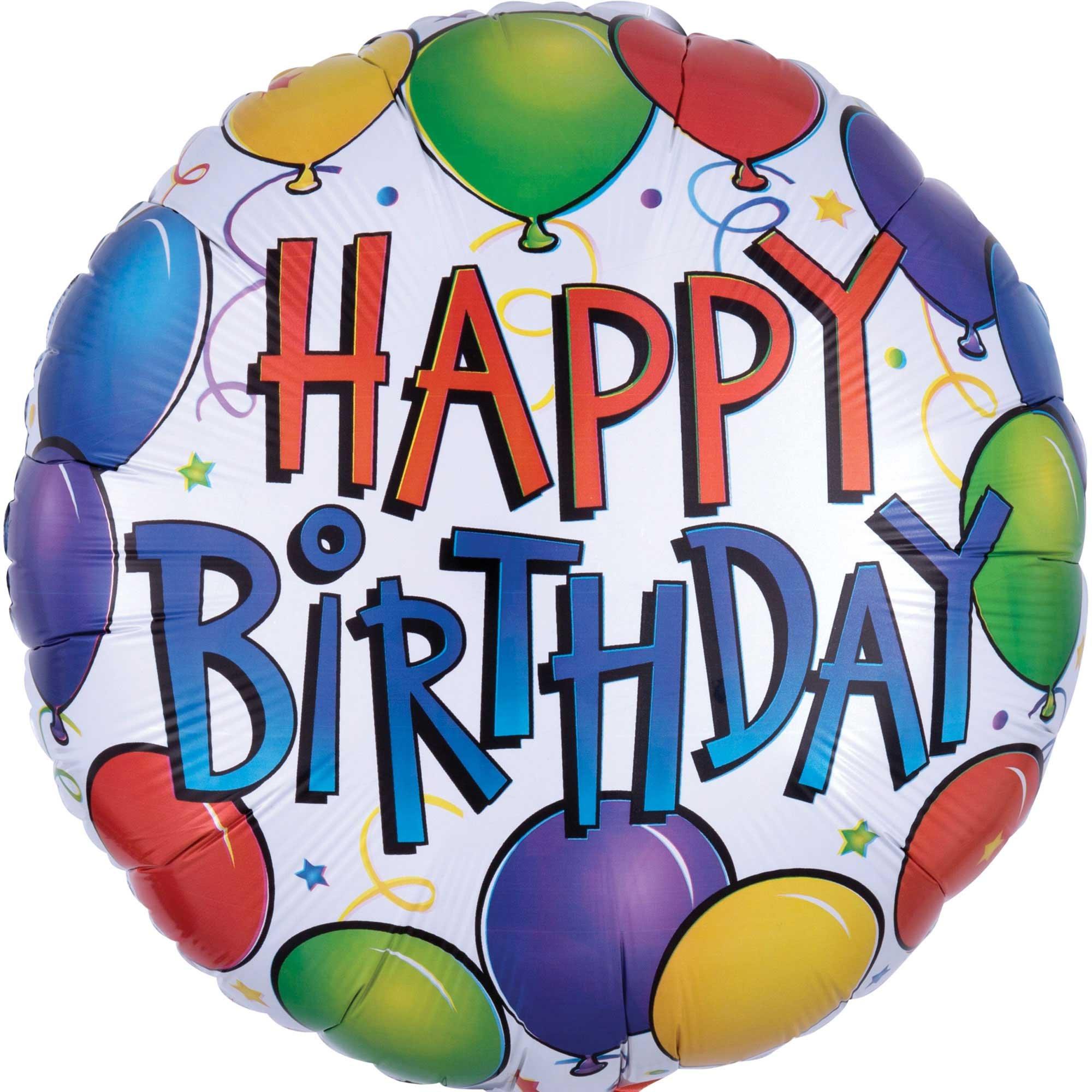 45cm Standard HX Balloon Fun Happy Birthday S40