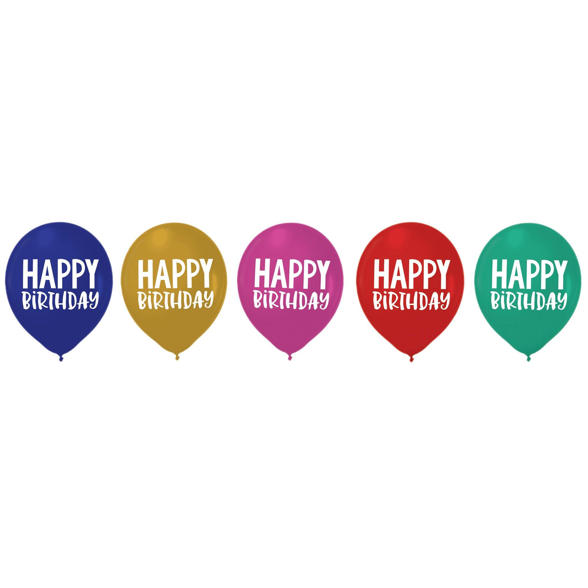 Happy Dots Happy Birthday 30cm Latex Balloons