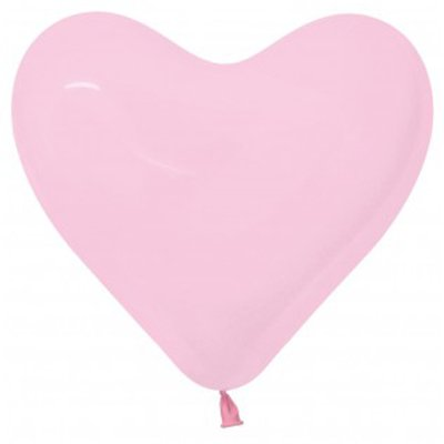 Sempertex 15cm Hearts Fashion Pink Latex Balloons 009, 50PK