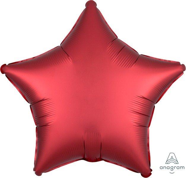 45cm Standard XL Satin Luxe Sangria Star S18
