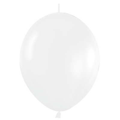 Sempertex 15cm Link O Loon Fashion White Latex Balloons, 50PK