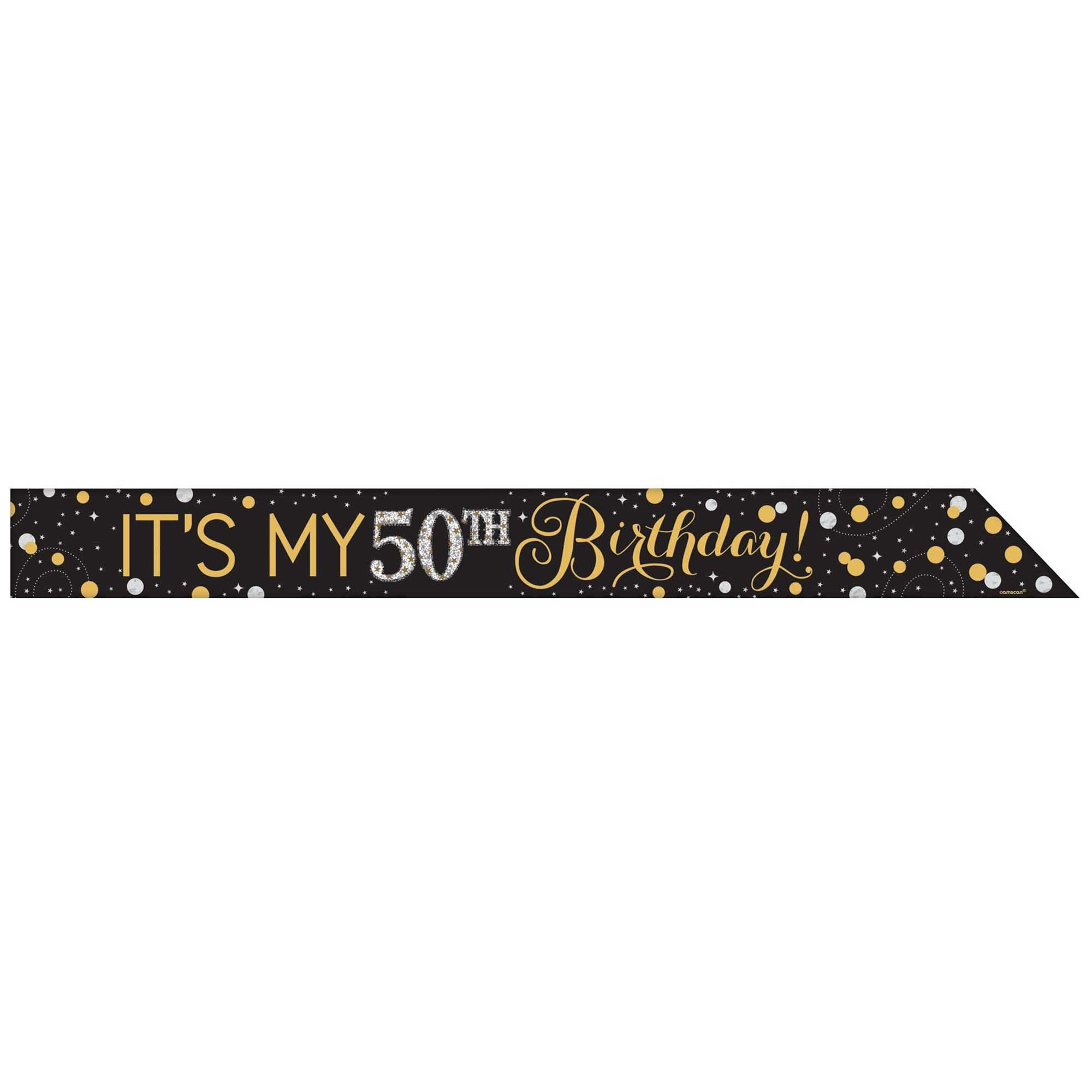 Sparkling Celebration Add Any Age Foil Sash & 24 Stickers