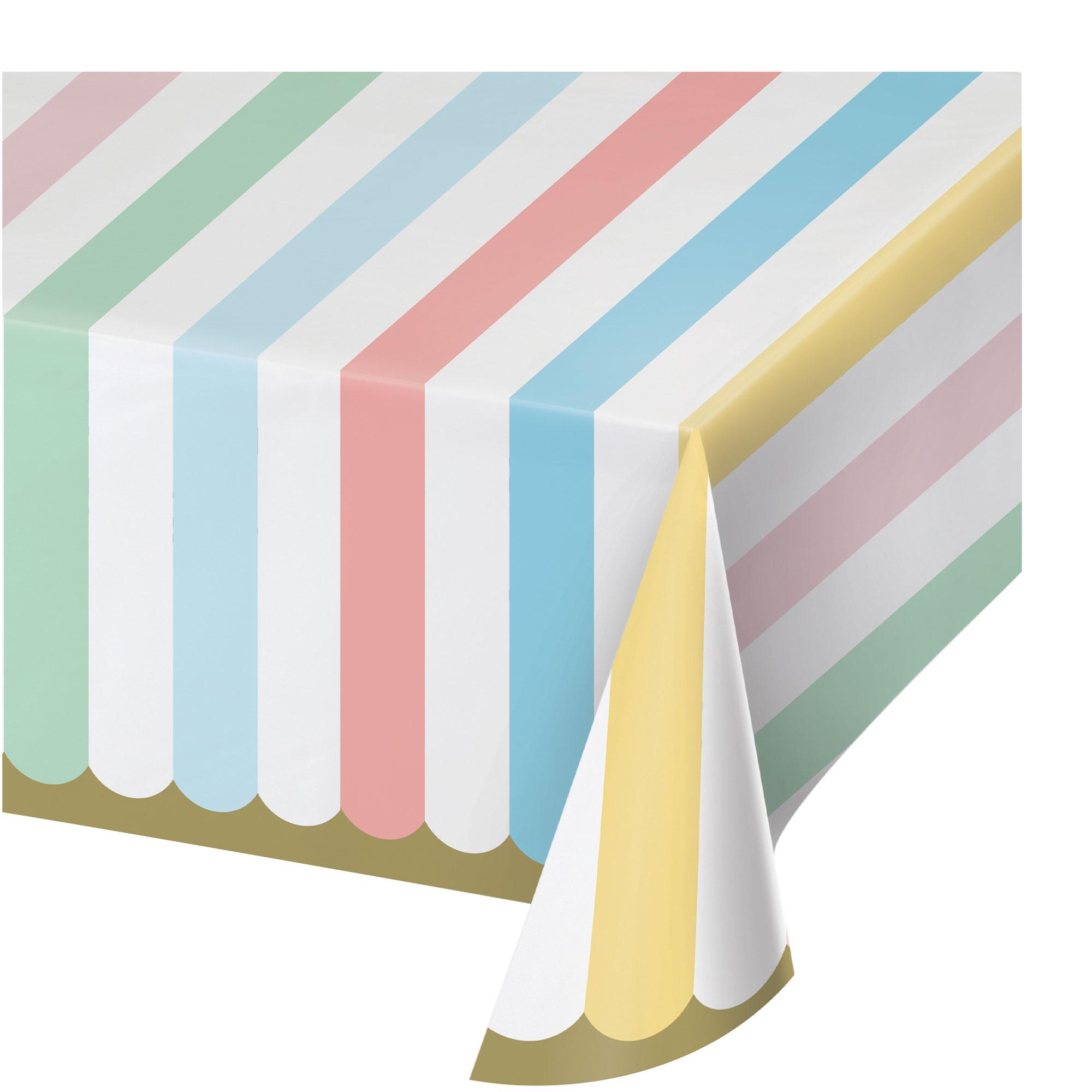 Pastel Celebrations Tablecover Paper 137cm x 259cm