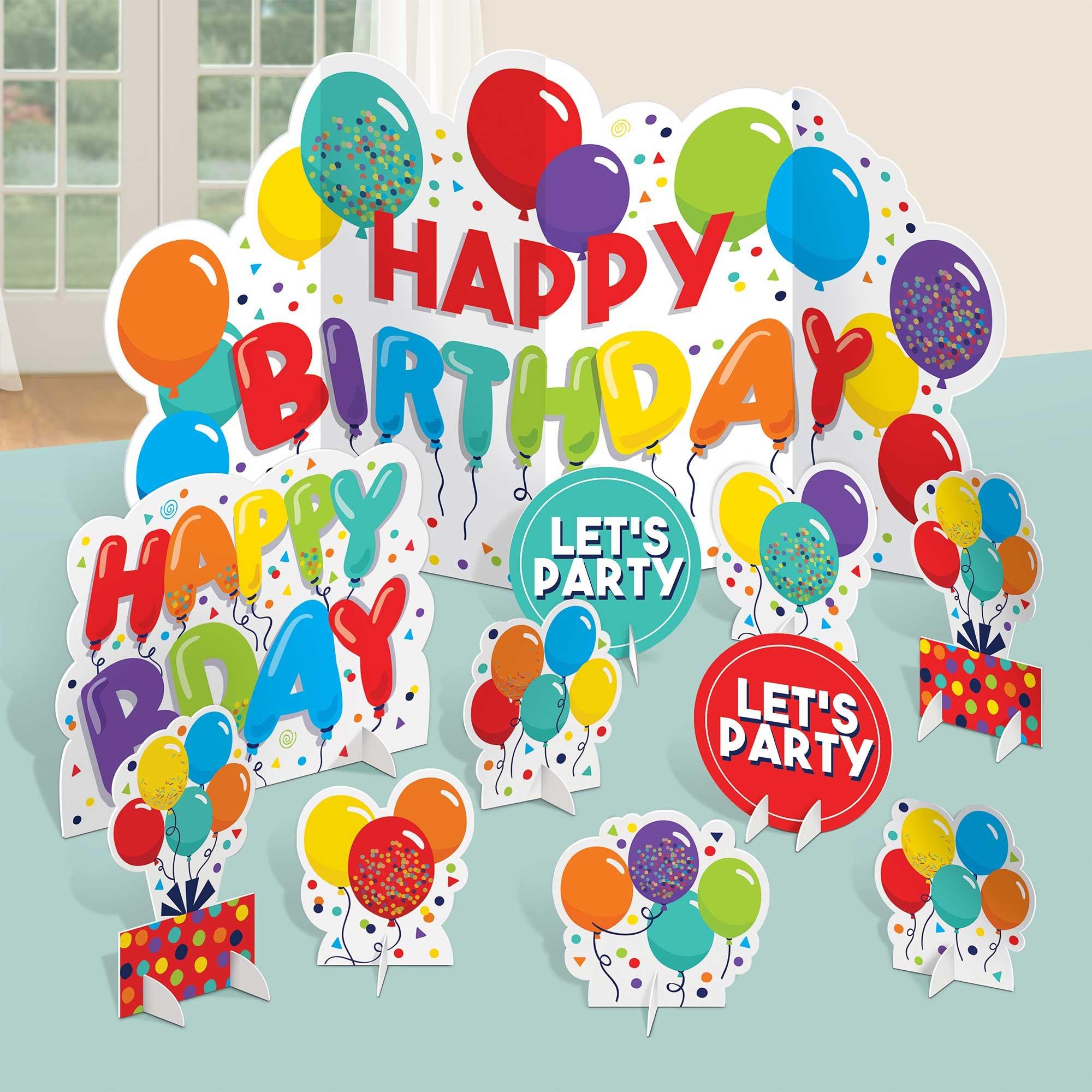 Birthday Celebration Table Decorating Centrepiece Kit