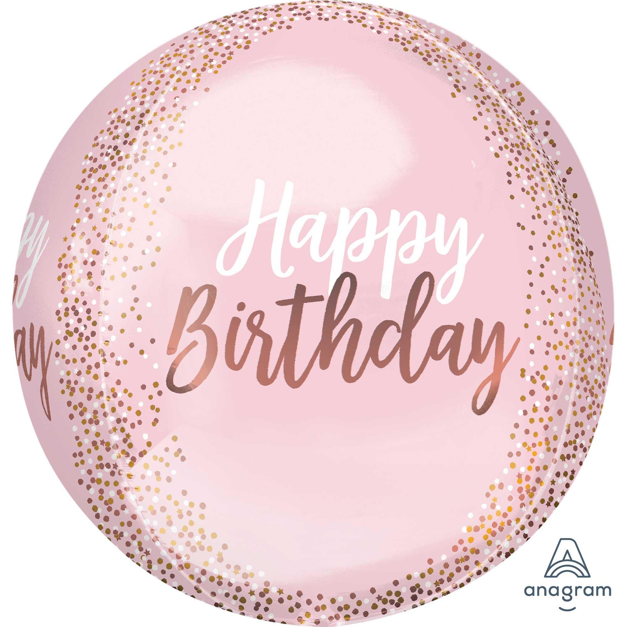 Orbz XL Blush Happy Birthday G20