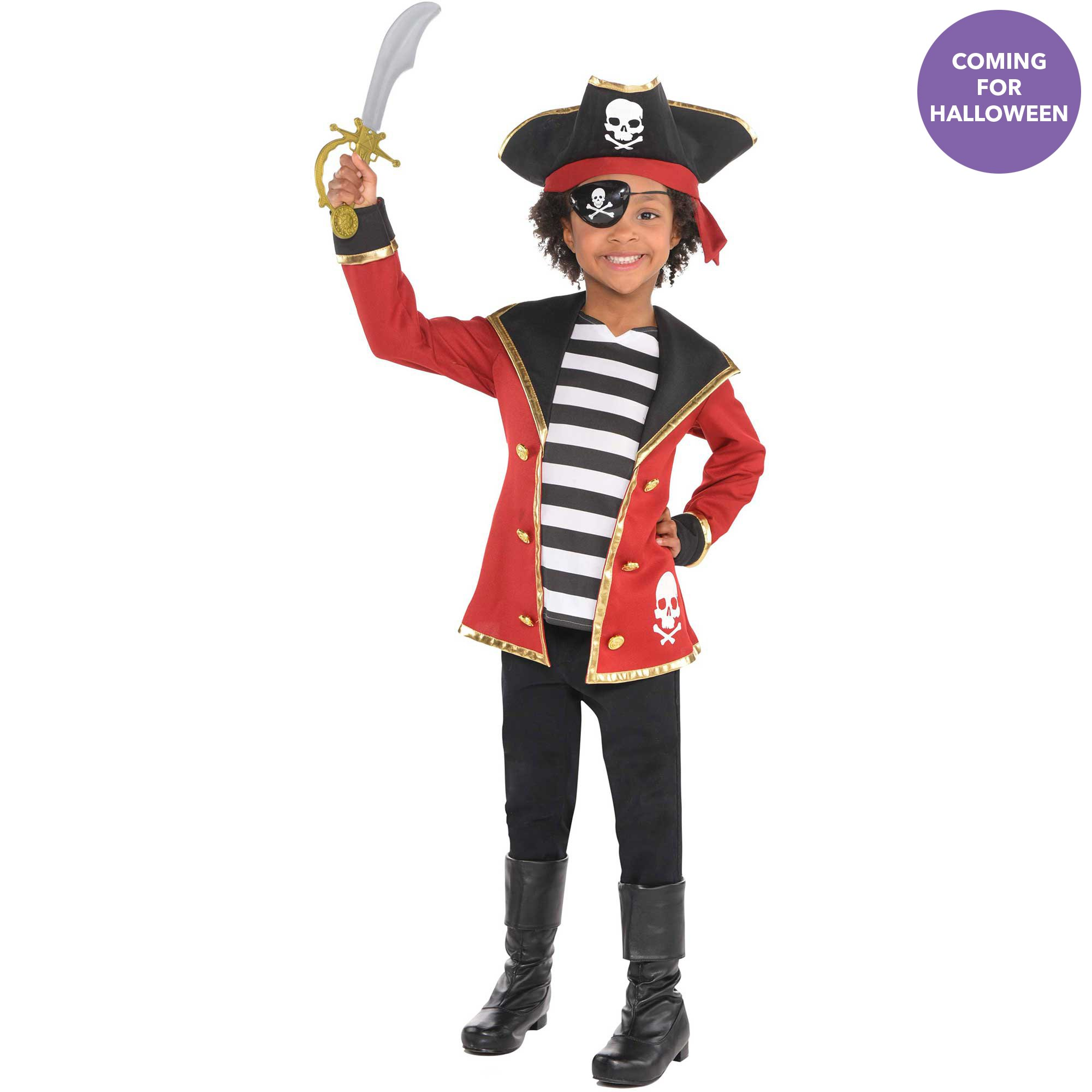 Childs Pirate Costume Kit Small 4-6 yrs