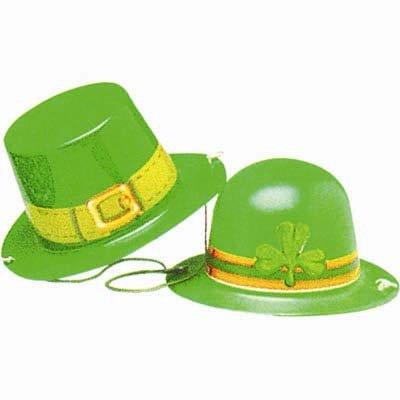 Mini Plastic Hats St Patrick's Day Assorted Designs