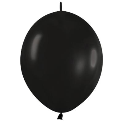 Sempertex 15cm Link O Loon Fashion Black Latex Balloons, 50PK
