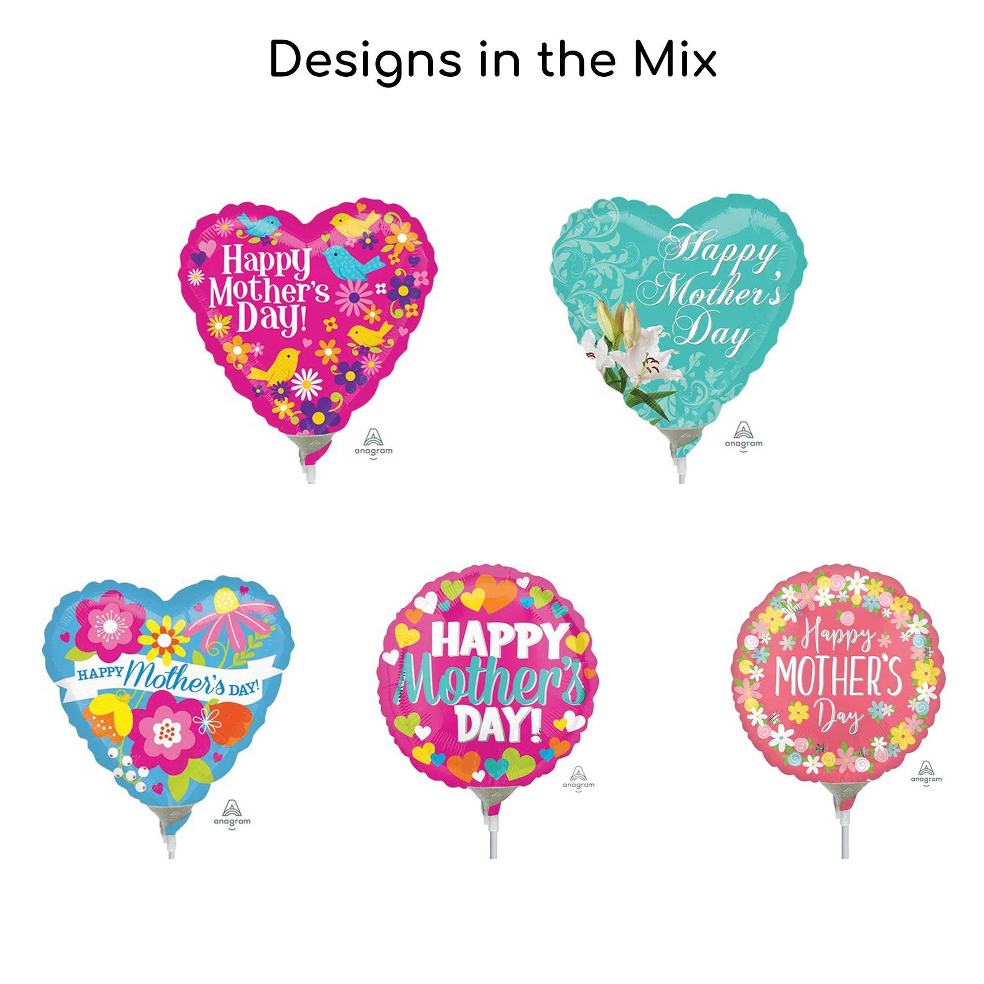 22cm Happy Mother's Day Balloon Mix 2 (25 balloons)